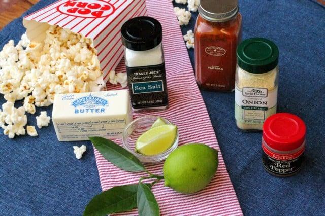 Lime Popcorn Ingredients