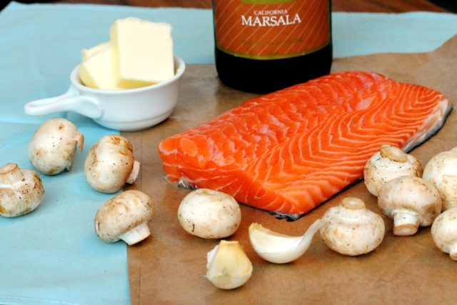 Salmon Marsala ingredients
