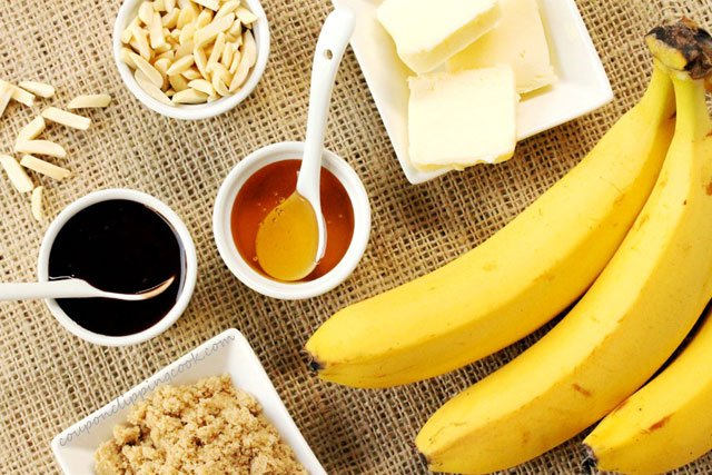 Browned Butter Banana Dessert Ingredients