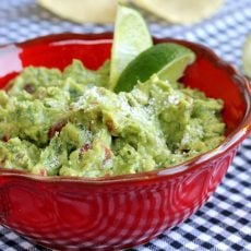Guacamole and Lime in Bowl