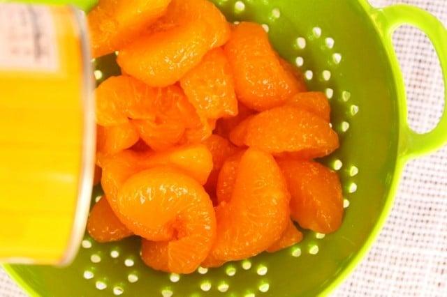 Mandarin Oranges in Strainer