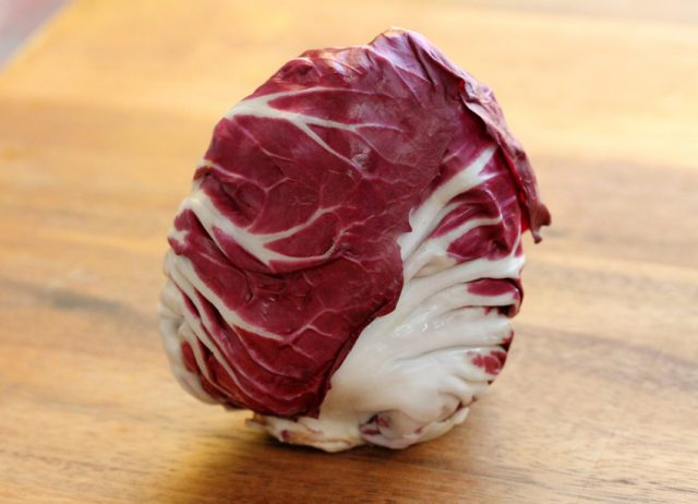 Radicchio on Cutting Board