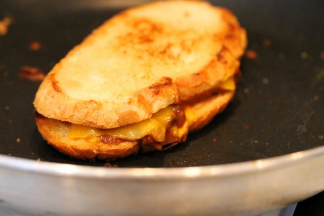 Grilled Cheese Sandwich in Pan