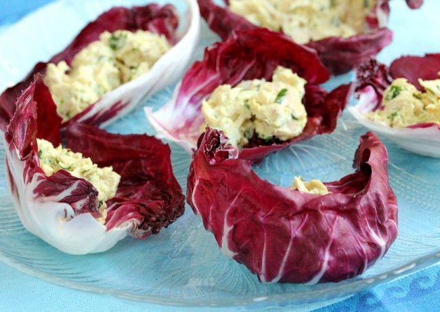 Radicchio Tuna Salad on plate