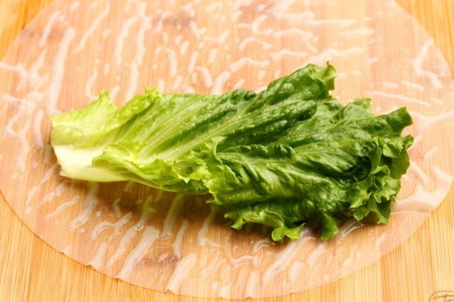 Lettuce on Rice Paper
