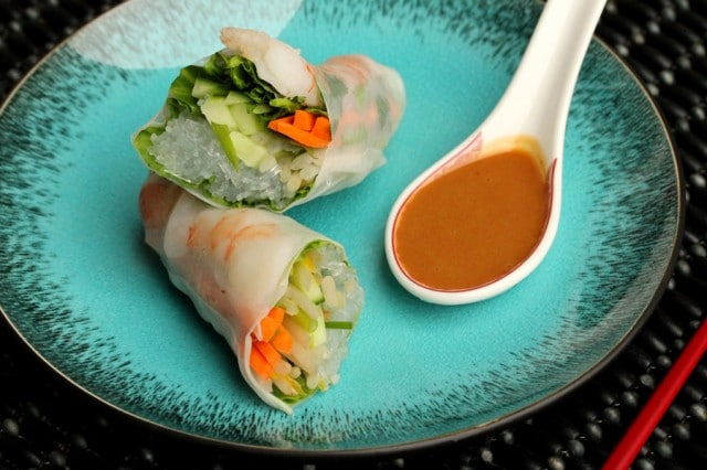 Fresh Spring Rolls with Shrimp