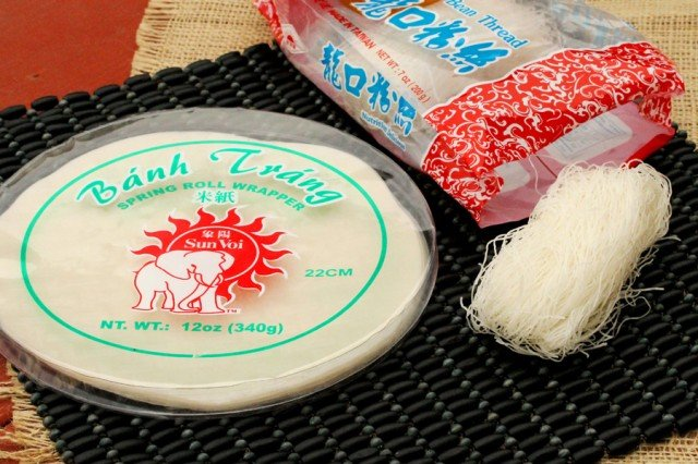 Rice Paper and Bean Thread Noodles