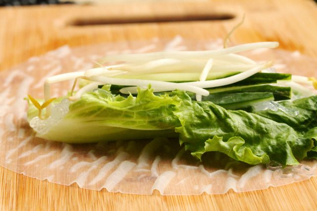 Bean Sprouts in filling for Spring Roll