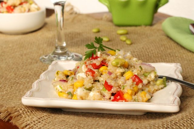 Quinoa with Vegetables on plate