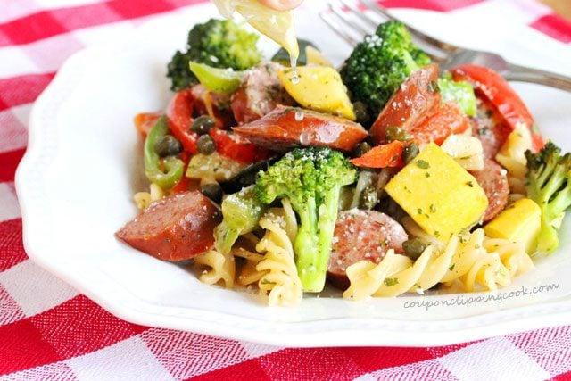 Smoked Sausage Pasta Vegetables