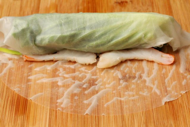 Roll Fresh Spring Roll with shrimp