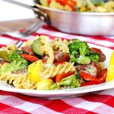 Pasta Vegetables Smoked Sausage Meal