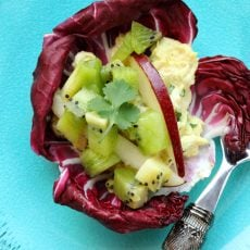 8 curry tuna salad with radicchio