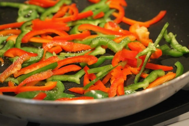 Bell Pepper in Pan