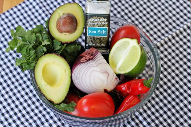 Guacamole Ingredients in bowl