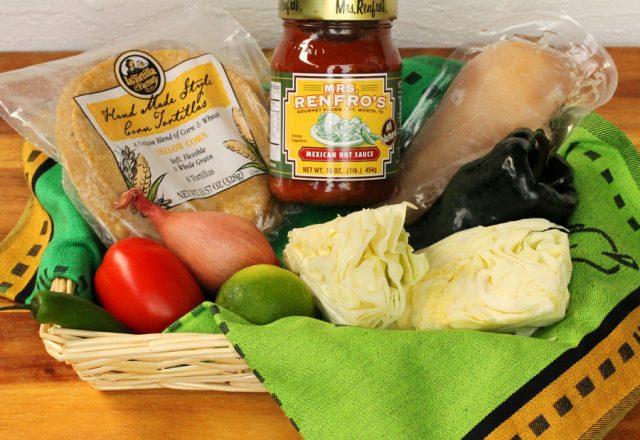 Poblano Chicken Tacos ingredients
