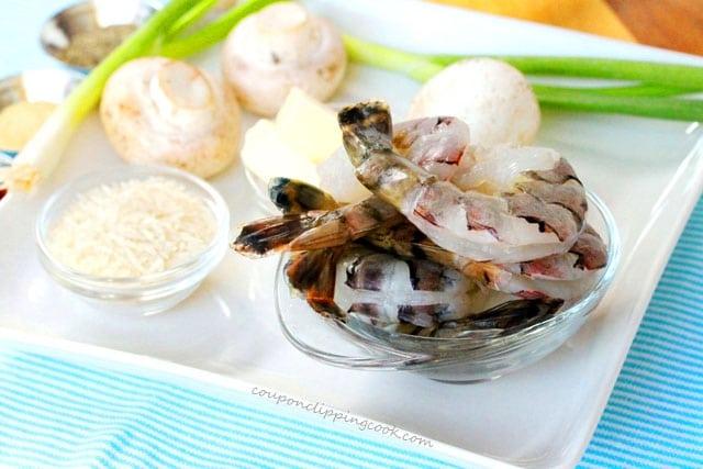 Browned Butter Shrimp Ingredients
