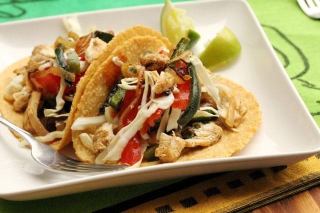 Chicken Poblano Soft Taco