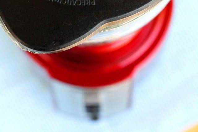 Lid on Blender Jar