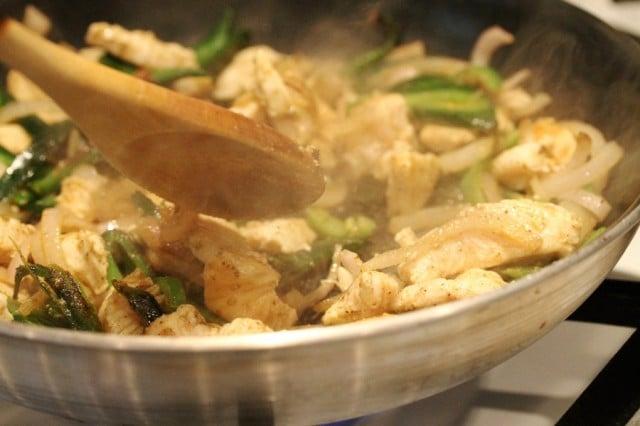 Stir Chicken in Pan