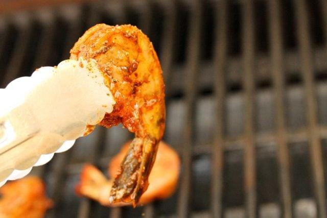 Seasoned Shrimp on Grill
