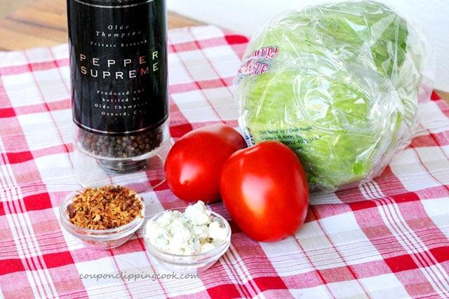 Blue Cheese Salad Ingredients