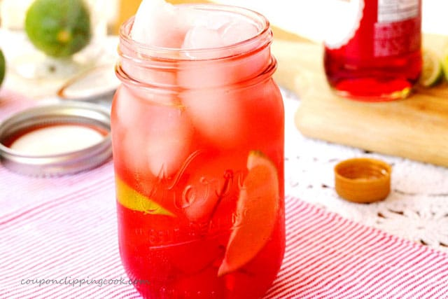 Shirley Temple Drink with Cherries
