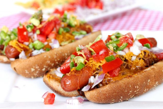 Jalapeno Chili Dog on plate