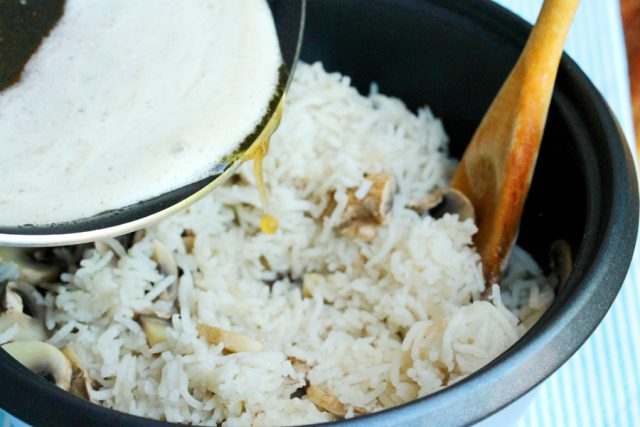 Add Browned Butter in Rice