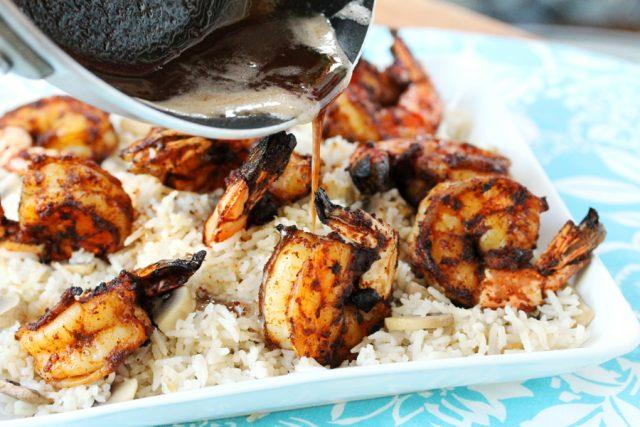 Add Browned Butter on Grilled Shrimp