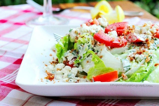 Blue Cheese Wedge Salad on plate