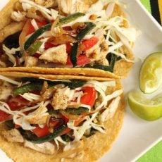 Poblano Pepper Chicken Tacos