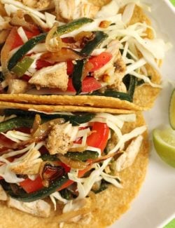 Poblano Pepper Chicken Tacos