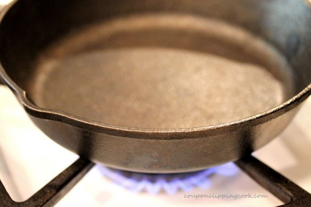 Iron Skillet on Stove