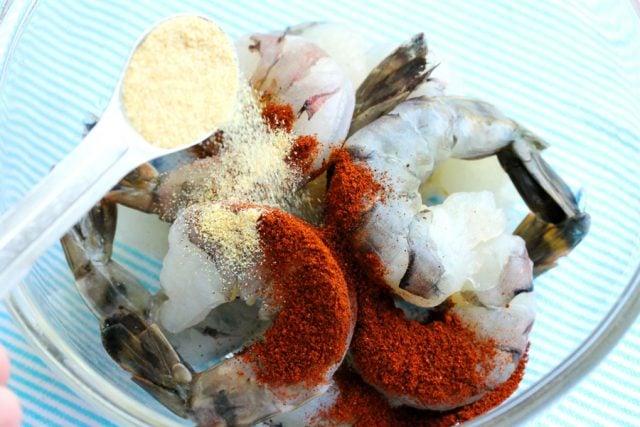 Granulated Garlic on Shrimp