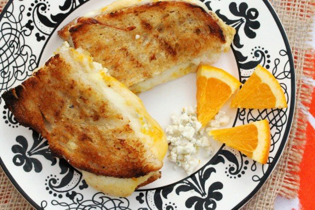 Grilled Cheese and Orange Zest