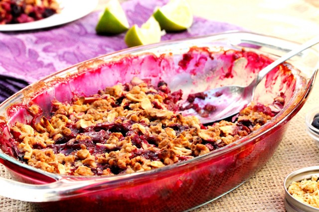 Berry Crisp in Bowl