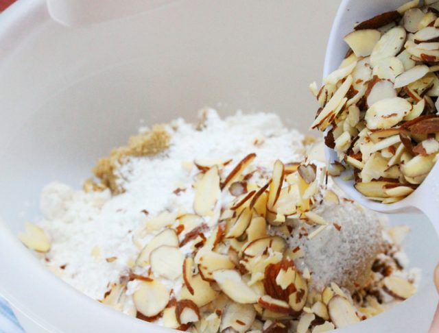 Add Sliced Almonds in Bowl