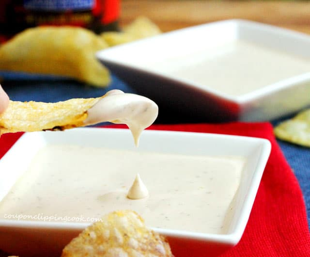 Malt Vinegar Potato Chip Dip in dish
