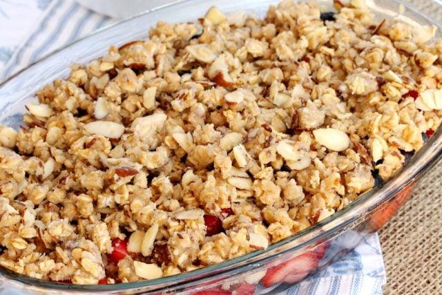 Nut Mixture on Berries in dish