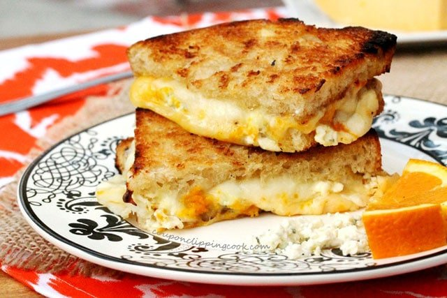 Orange Zest Grilled Cheese on plate