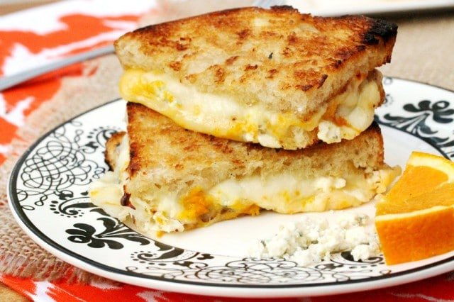 Grilled Cheese on Plate