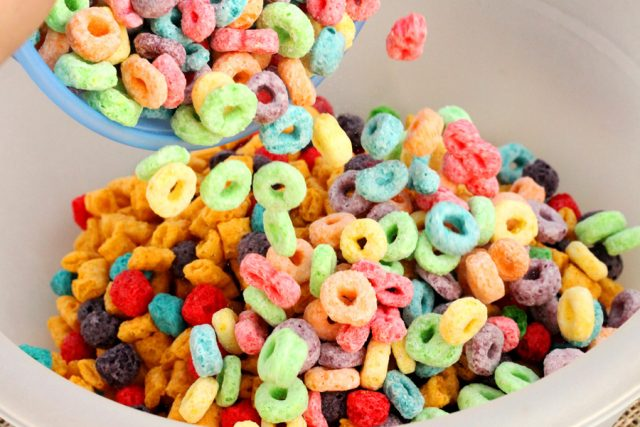 Add Froot Loops in Bowl