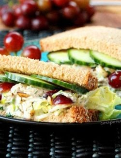 Chicken Salad Sandwich on Plate