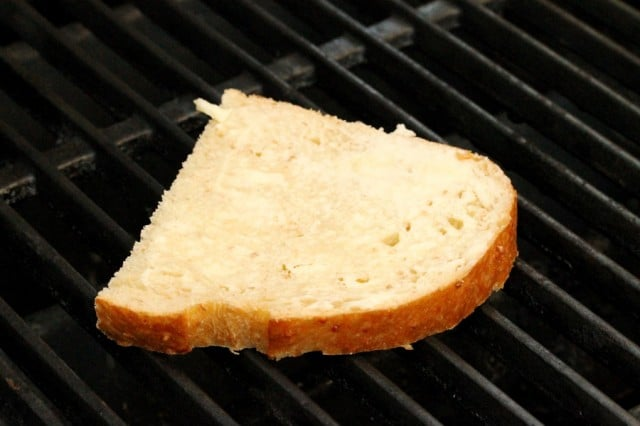 Sliced Bread on Grill