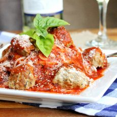 Pork Meatballs and Marinara Sauce