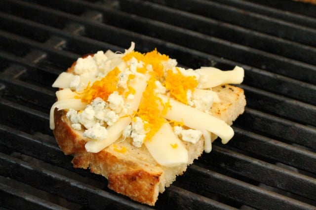 Cheese and Orange Zest on Bread