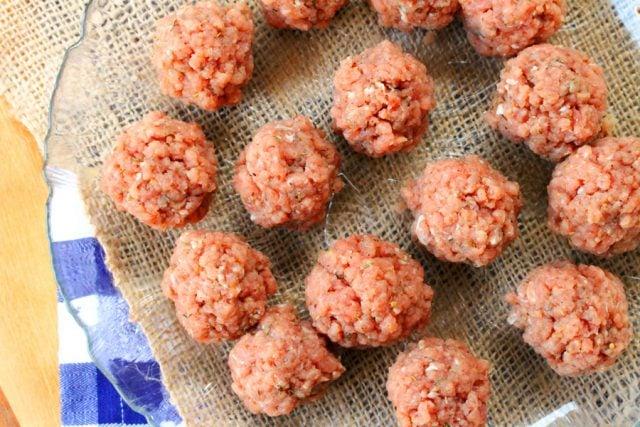 Ground Pork Meatballs on plate