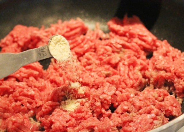 Onion Powder in Ground Beef