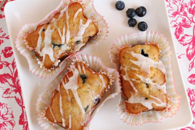 Banana Blueberry Bread on plate